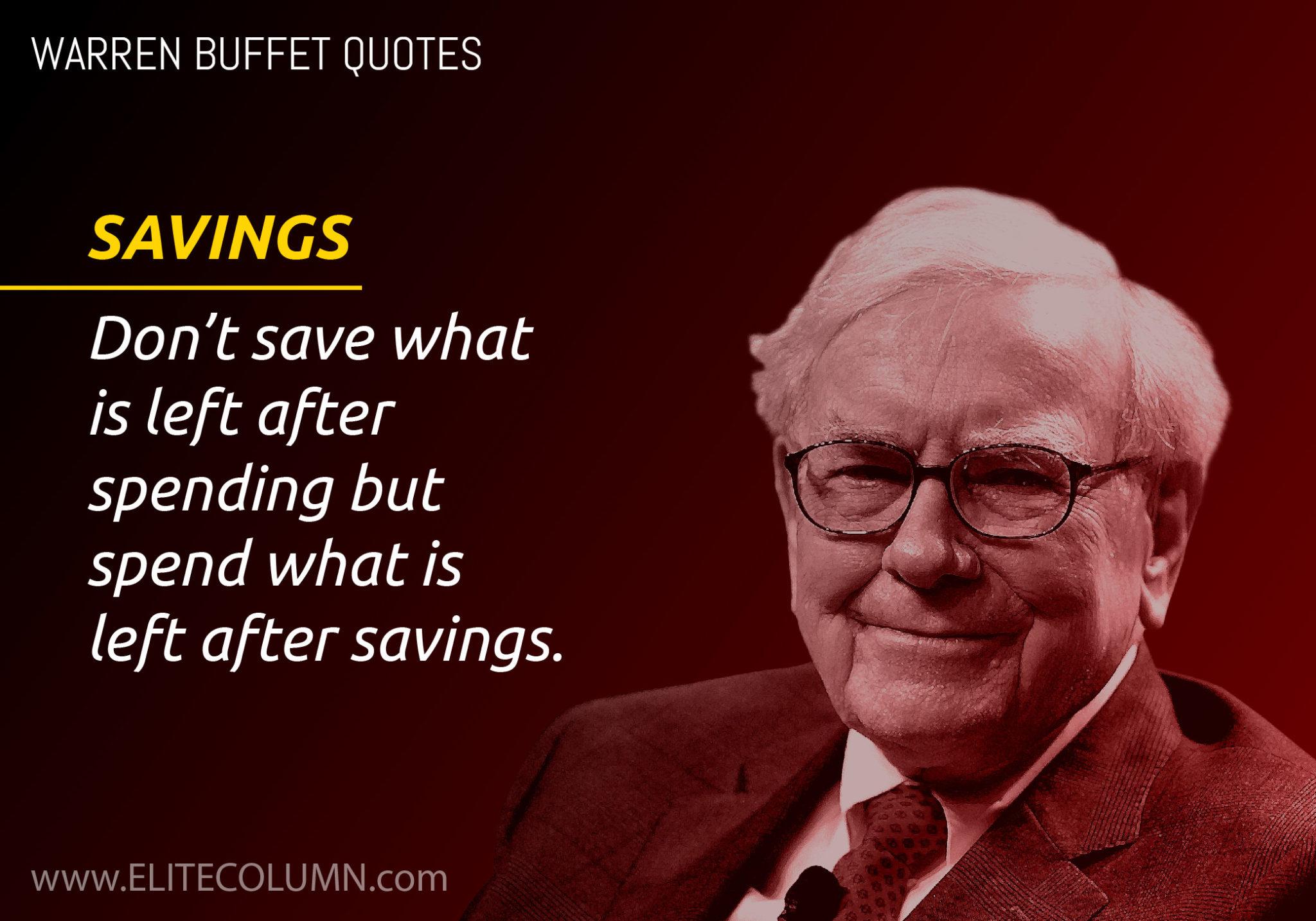 warren buffett savings